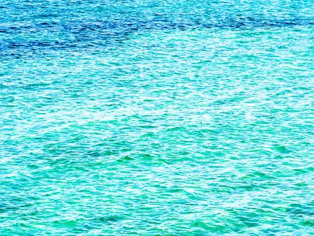 wavelet: Emerald green wavelet of Okinawa beach