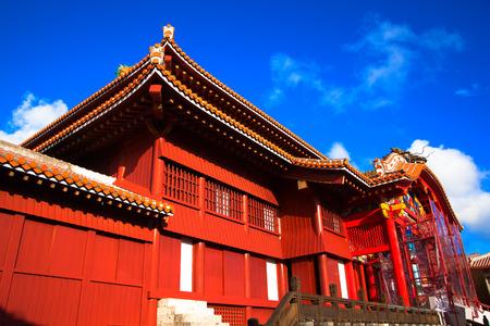 Blue sky and Shuri Castle, Okinawa