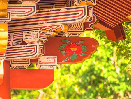 Decoration of Shurei Gate in Okinawa, Japan 免版税图像 - 30709377