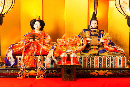 HIna Dolls at the Girls Festival, peach festival, in Japan photo