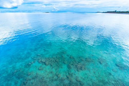 Emerald green ocean in Okinawa