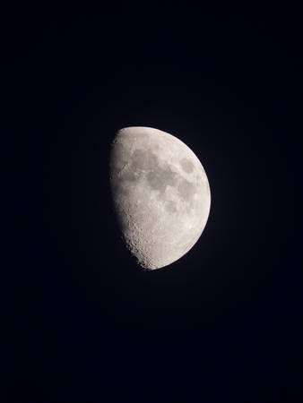 gibbous: Good luck green halo gibbous moon Stock Photo