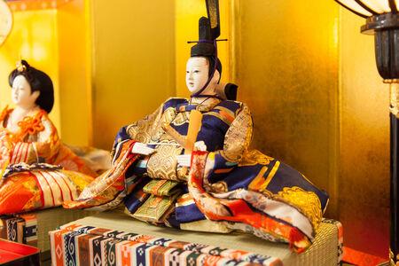 Emperor doll at the Girls Festival, peach festival, in Japan