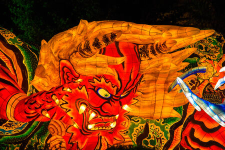 Nebuta, one of the traditional Japanese festival