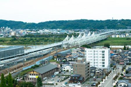 Toyama City, urban landscape 免版税图像 - 32911481