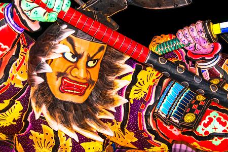 일본의 전통 축제 네부타 스톡 콘텐츠