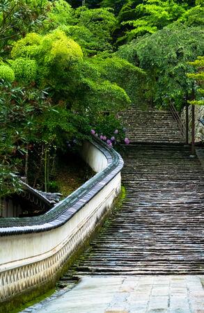 dera: Stone steps of Hase-dera Temple Stock Photo