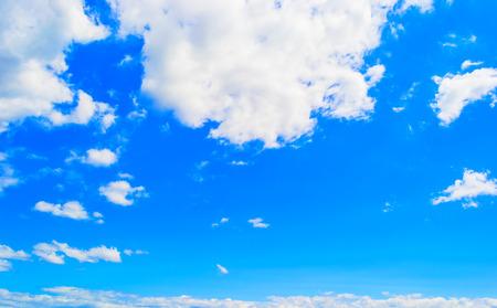 Blue sky and sun shine