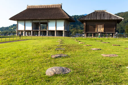 Hirasawakaga Ruins in Japan 免版税图像 - 33814521