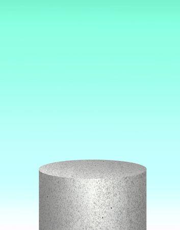 white terrazzo podium for product. mock up scene. 3D rendering
