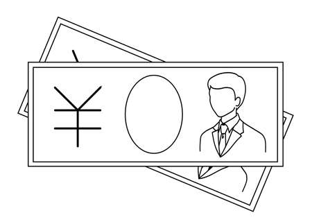Money Bill Icons 免版税图像