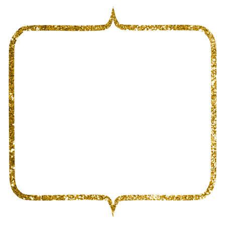 Background Material Gold Glitter frame Stock fotó