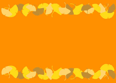 Background Material Ginkgo Autumn Frame