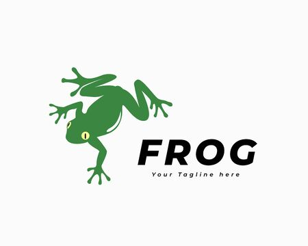 Climb down frog art logo design inspiration Иллюстрация