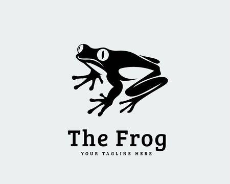 watchful black frog art logo design inspiration