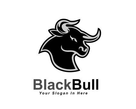 black head bull ox buffalo cow angry logo design inspiration
