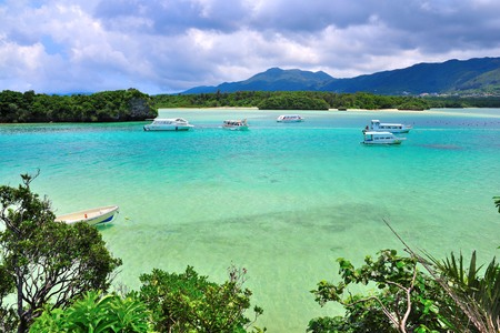 日本、沖縄の石垣島の川平湾 写真素材