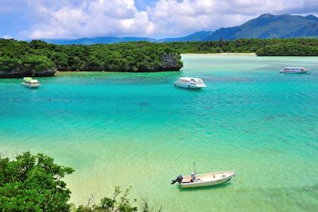 日本、沖縄の石垣島の川平湾 報道画像