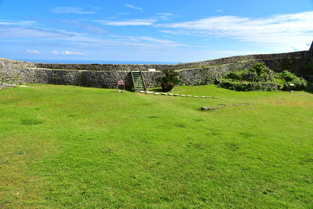 Nakagusuku Castle which was added to the list of UNESCO World Heritage Sites in 2000, Okinawa, Japan