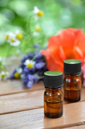 essential oils in the herbal garden