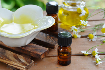aromatherapy oils with chamomile photo