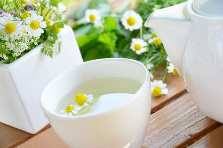 chamomile tea: tea break with chamomile