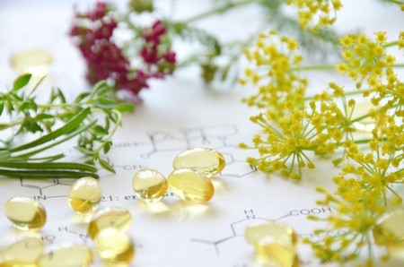 natural supplement with herbs