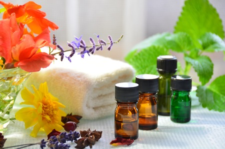 essential oils for aromatherapy photo