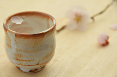 rice wine with flowers