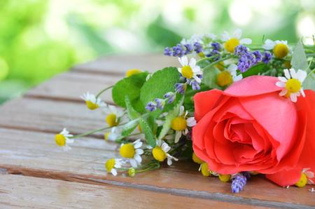 herbal flowers Stock Photo