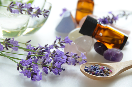 aromatherapy treatment with lavender