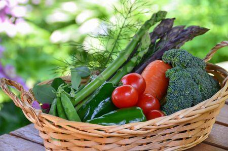 vegetables harvested in basket