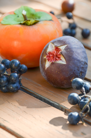 fig: fig and persimmon
