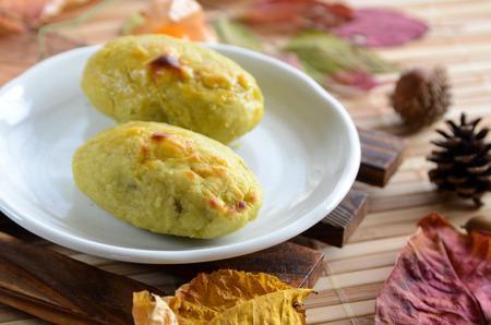camote: pastel de patata dulce Foto de archivo