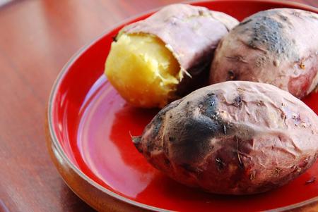 grilled potato: baked sweet potato