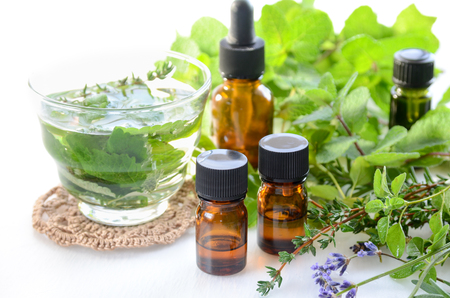essential oils with herbal drink