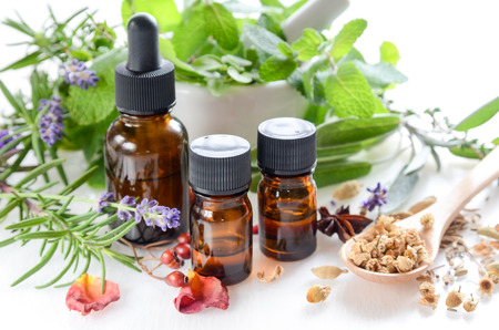 essential oils and herbs for natural apothecary