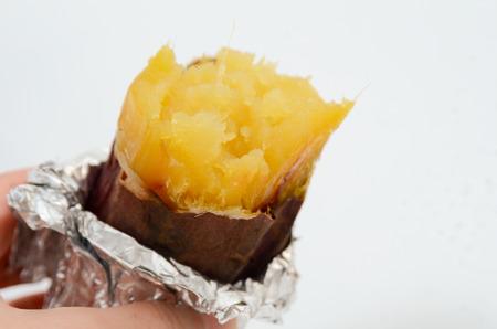 baked sweet potato in winter