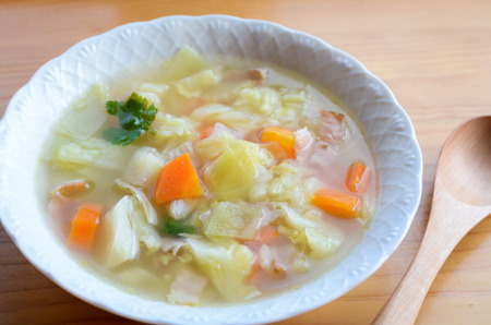 vegetable clear soup Stock Photo