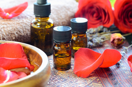 essential oils with roses