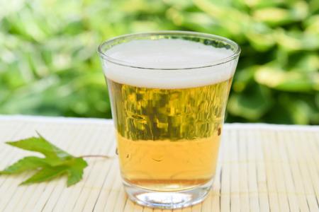 lager beer in garden Standard-Bild