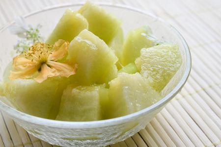 melon with flower Standard-Bild