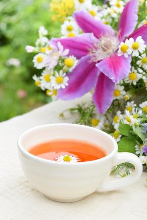 break in: tea break in garden Stock Photo