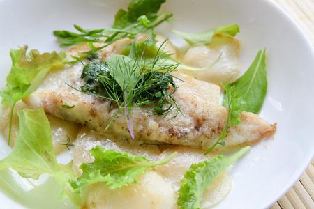 butter saute of codfish