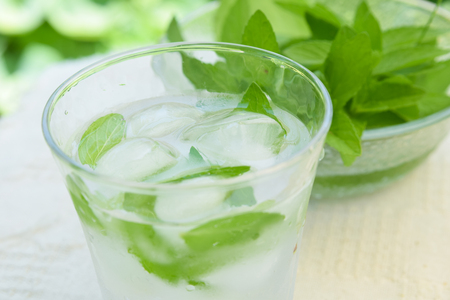 iced water with mint Standard-Bild
