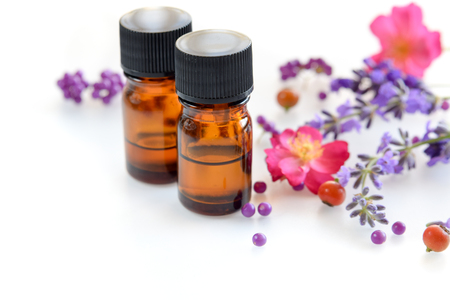 essential oils with rose and lavender Standard-Bild