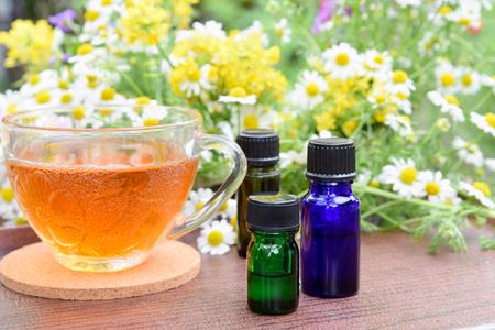 essential oils with drink Standard-Bild