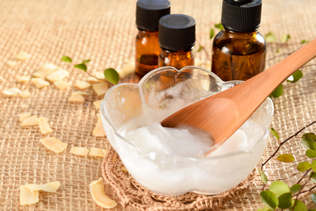 coconut oil with essential oils