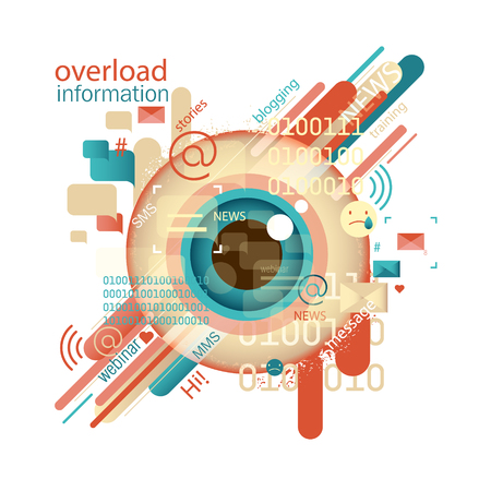 Abstract image. Information Overload concept. Intoxication information