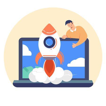Business Start Up Concept. Officepresent a new startup project business Standard-Bild - 139590694
